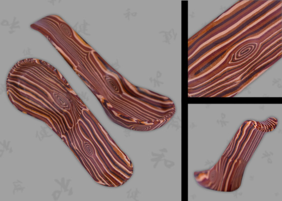 Picture of Polymer Clay Faux Wood Spoons by Veronika Vetter (DAoCFrEak) Fine Artist